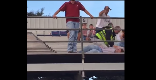 Alabama-Fan-Throws-Soda-onto-Ole-Miss-Fans-Gets-Hammered-by-Security