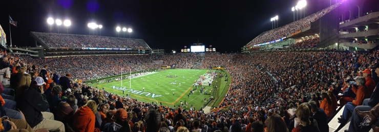 Parnorama of Jordan-Hare Stadium from the Endzone