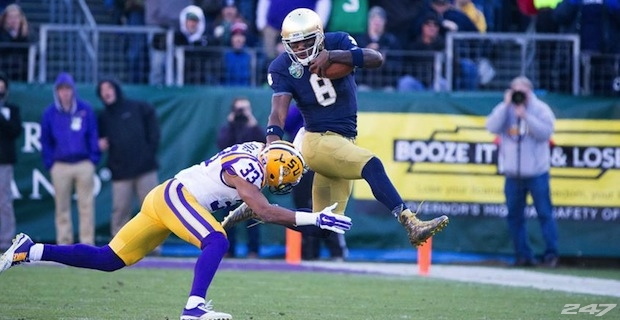 Malik Zaire in Music City Bowl from Nick Ironside/247 Sports