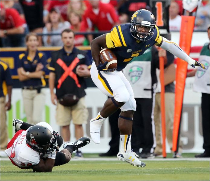 Toledo RB Kareem Hunt (Photo Courtesy of The Blade/Jeremy Wadsworth)