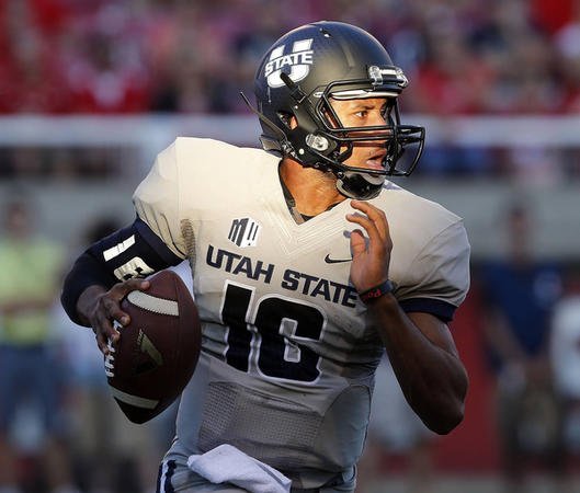 USU QB Chuckie Keeton (Photo Courtesy of Ravell Call/Deseret News)