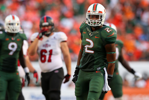 Miami S Deon Bush (Photo Courtesy of Mike Ehrmann/Getty Images North America)
