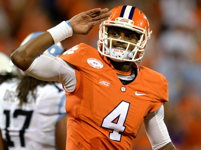 Clemson QB Deshaun Watson (Photo Courtesy of Bart Boatright/GreenvilleOnline.com)