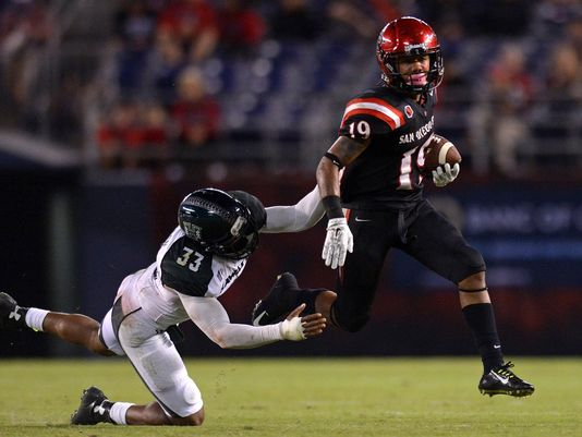 SDSU RB Donnel Pumphrey (Photo Courtesy of Jake Roth/USA TODAY Sports)