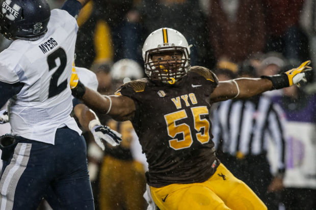 Wyo DL Eddie Yarbrough (Photo Courtesy of Ryan Dorgan/Casper Star-Tribune)