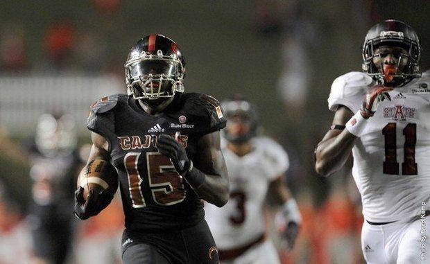 ULL RB Elijah McGuire (Photo Courtesy of Louisiana-Lafayette)