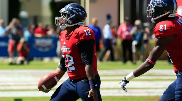 FAU QB Jaquez Johnson (Photo Courtesy of Robert Mayer/USA TODAY Sports)
