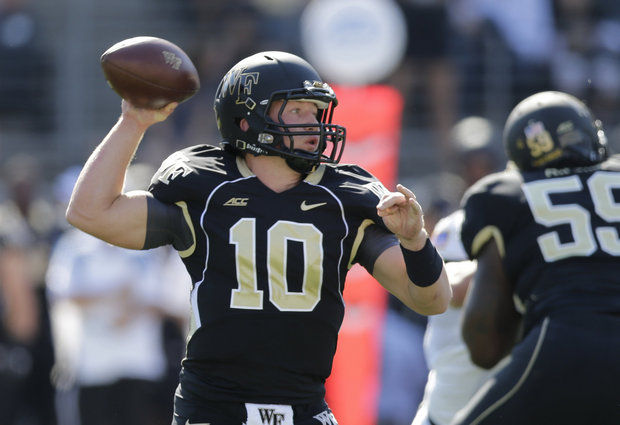 WF QB John Wolford (Photo Courtesy of Chuck Burton/Associated Press)