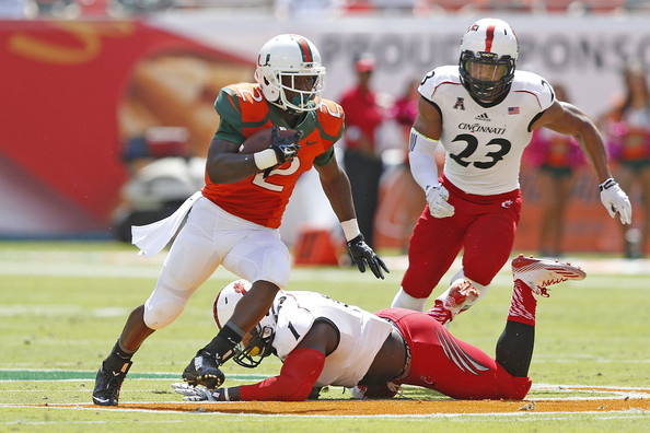 Miami RB Joseph Yearby (Photo Courtesy of Joel Auerbach/Getty Images North America)