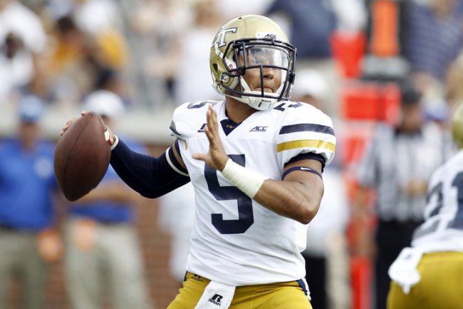 GT QB Justin Thomas (Photo Courtesy of Brett Davis/USA Today Photo)