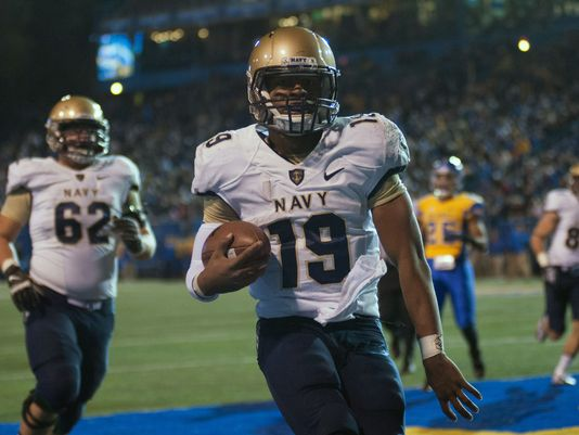 Navy QB Keenan Reynolds (Photo Courtesy of Ed Szczepanski/USA TODAY Sports)