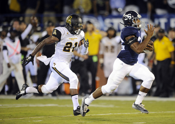 GSU RB Matt Breida (Photo Courtesy of Todd Bennett/Getty Images North America)