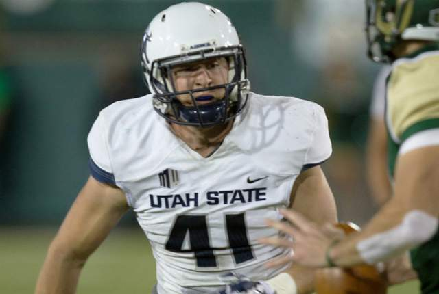USU LB Nick Vigil (Photo Courtesy of Utah State Athletics)