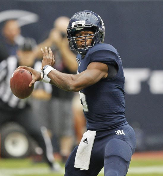Rice QB Driphus Jackson (Photo Courtesy of Bob Levey/Getty Images)