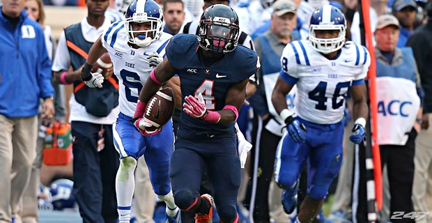 "UVA RB Taquan ""Smoke"" Mizzell (Photo Courtesy of 247Sports)"