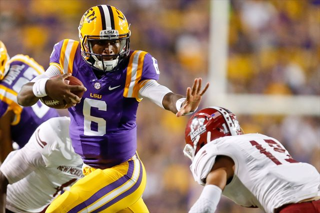 LSU QB Brandon Harris (Photo Courtesy of USATSI)