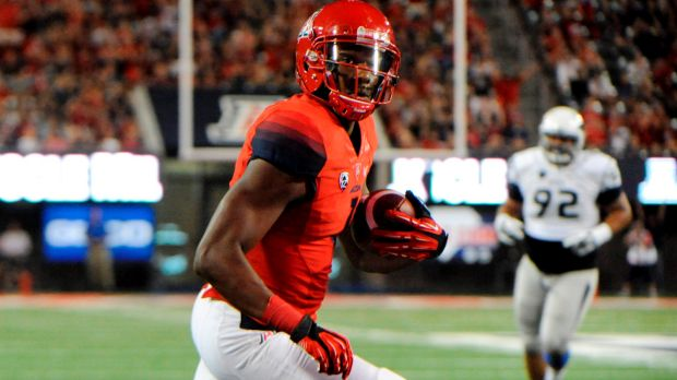 Zona WR Cayleb Jones (Photo Courtesy of Casey Sapio/USA TODAY Sports)