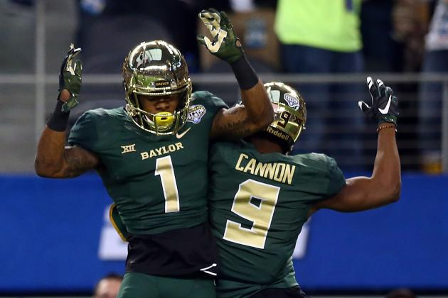 Baylor WRs Corey Coleman (1) and K.D. Cannon (9) (Photo Courtesy of Ronald Martinez/Getty Images)