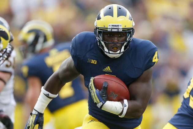 UM RB De'Veon Smith ( Photo Courtesy of Gregory Shamus/Getty Images)