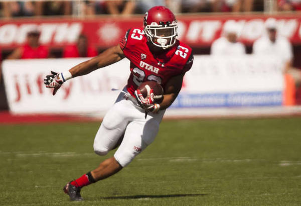 Utah RB Devontae Booker (Photo Courtesy of Michelle Tessier/Deseret News)