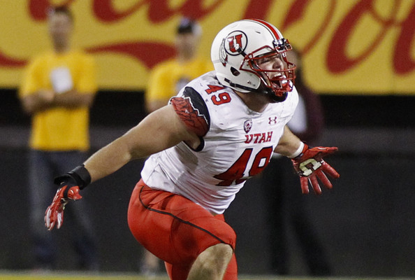 Utah DL Hunter Dimick (Photo Courtesy of Ralph Freso/Getty Images North America)