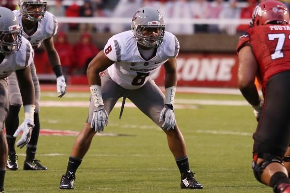 WSU LB Jeremiah Allison (Photo Courtesy of Washington State University Athletic Communications)