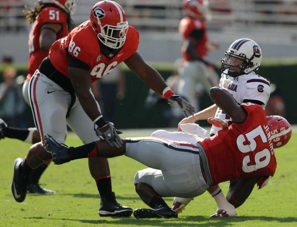 UGA LB Jordan Jenkins (Photo Courtesy of AP Photo/John Bazemore)