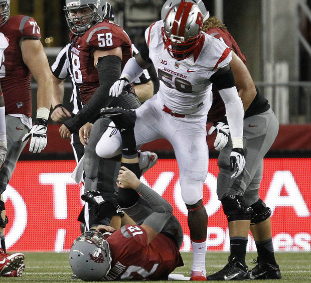 Rutgers DL Kemoko Turay (Photo Courtesy of William Perlman/The Star-Ledger)