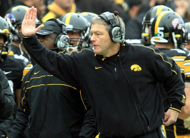 Iowa HC Kirk Ferentz (Photo Courtesy of John Schultz/Quad-City Times)