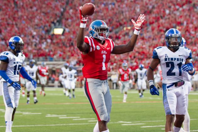 Ole Miss WR Laquon Treadwell (Photo Courtesy of Michael Chang/Getty Images)