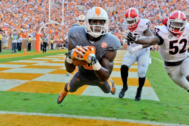 UT WR Marquez North (Photo Courtesy of Jim Brown/USA TODAY Sports)