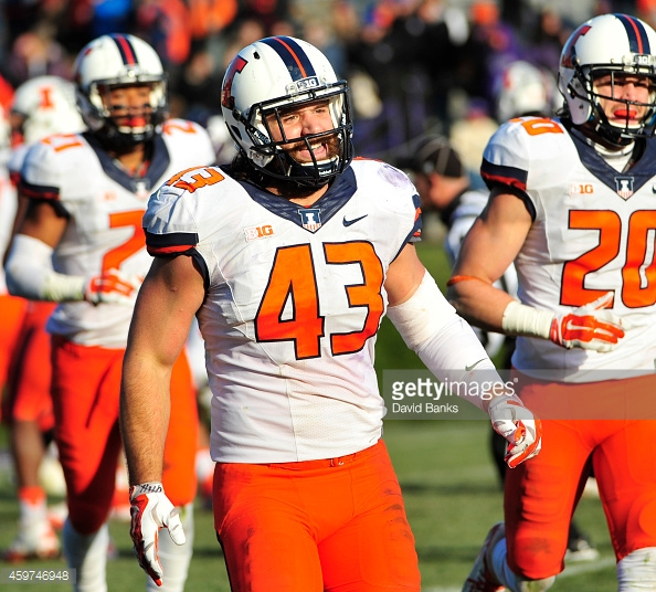 EVANSTON, IL - NOVEMBER 29: on November 29, 2014 at Ryan Field in Evanston, Illinois.  The Illinois Fighting Illini defeated the Northwestern Wildcats 47-33.  (Photo by David Banks/Getty Images) *** Local Caption ***