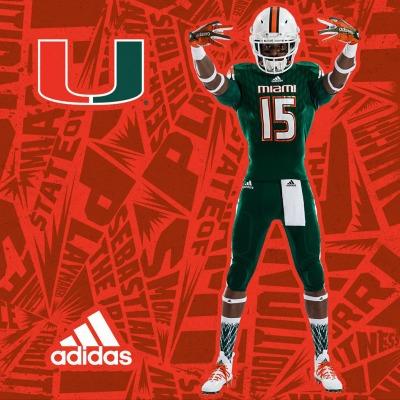 Miami Hurricanes Adidas Uniforms