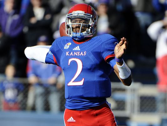 KU QB Montell Cozart (Photo Courtesy of John Rieger/USA TODAY Sports)