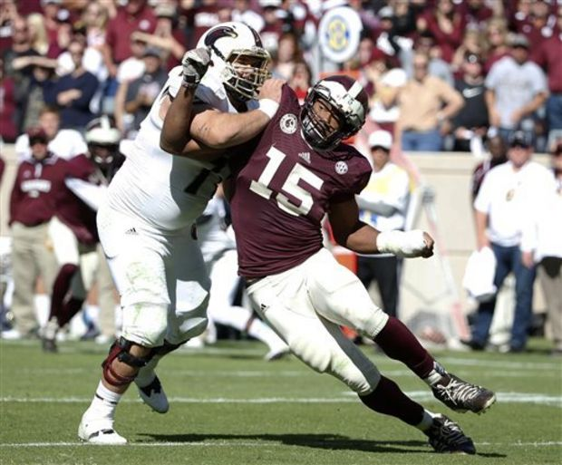 TAMU DE Myles Garrett (Photo Courtesy of AP Photo/Tony Gutierrez)