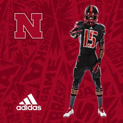 Adidas 2015 Alternate Nebraska Football Uniform