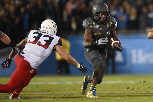 UCLA RB Paul Perkins (Photo Courtesy of Gus Ruelas/Associated Press)