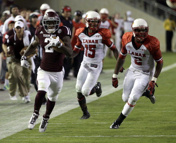 TAMU WR Speedy Noil (Photo Courtesy of AP Photo/David J. Phillip)