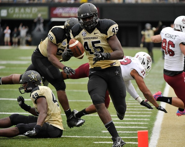 VU LB Stephen Weatherly (Photo Courtesy of Frederick Breedon/Getty Images North America)
