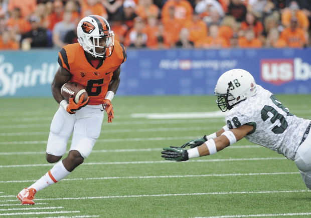 OSU WR Victor Bolden (Photo Courtesy of Amanda Cowan/Corvallis Gazette-Times)