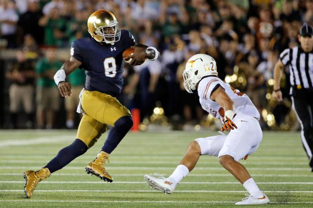 ND QB Malik Zaire (Photo Courtesy of Jon Durr/Getty Images)