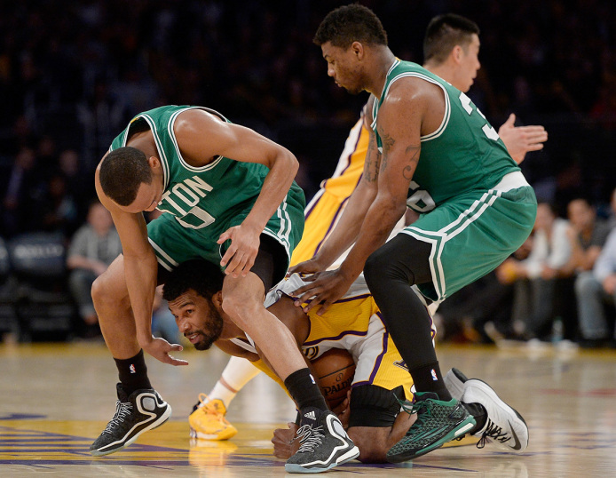 Boston Guards Avery Bradley and Marcus Smart (Photo Courtesy of Harry How/Getty Images)