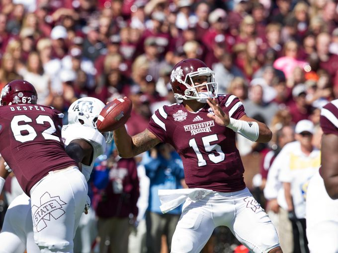 Dak Prescott vs. Texas A&M in 2014 (Photo Courtesy of Marvin Gentry/USA TODAY Sports)
