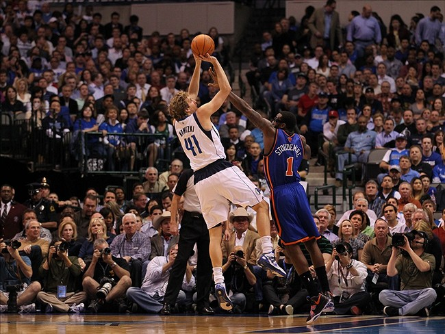 Dallas F Dirk Nowitzki (Photo Courtesy of Matthew Emmons/US PRESSWIRE)