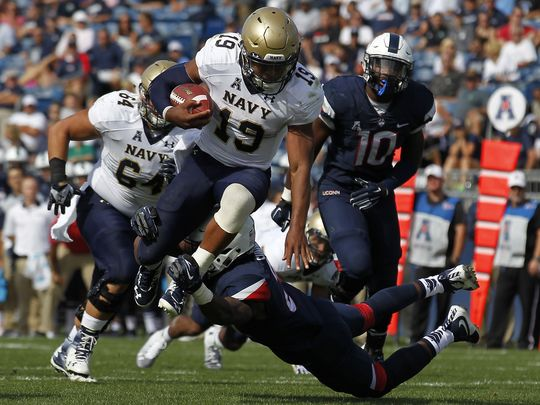 Navy QB Keenan Reynolds (Photo Courtesy of Stew Milne/AP)