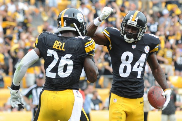Antonio Brown and Le'Veon Bell (Photo Courtesy of Getty Images)