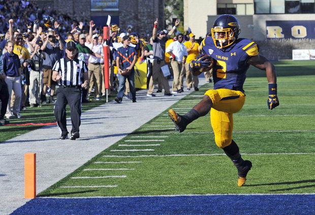 Toledo RB Terry Swanson (Photo Courtesy of AP Photo/David Richard)