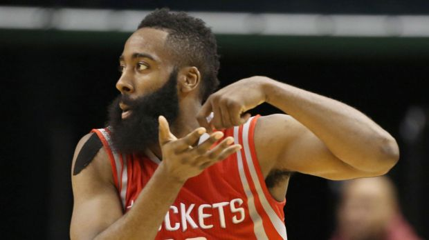 Houston SG James Harden (Photo Courtesy of Brian Spurlock/USA TODAY Sports)