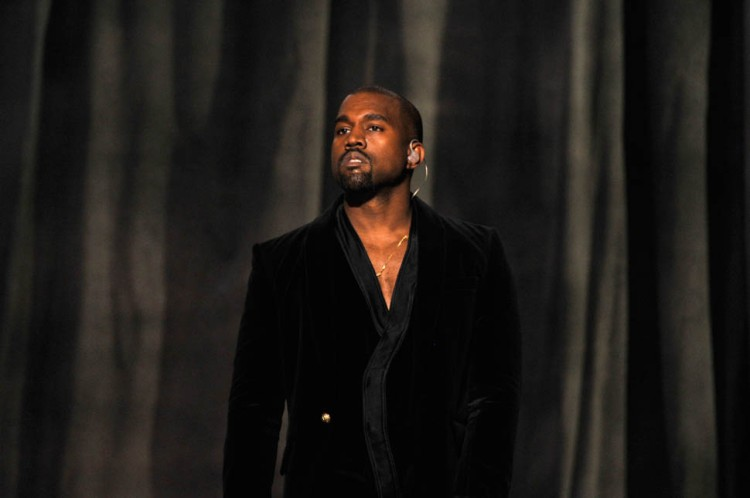 LOS ANGELES, CA - FEBRUARY 08:  Recording artist Kanye West performs onstage during The 57th Annual GRAMMY Awards at the STAPLES Center on February 8, 2015 in Los Angeles, California.  (Photo by Lester Cohen/WireImage)