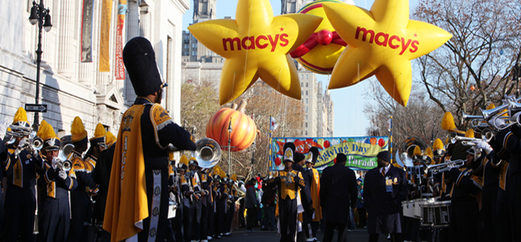 Blue and Gold Marching Machine at Macy's Thanksgiving Day Parade (Photo Courtesy of ncat.edu)
